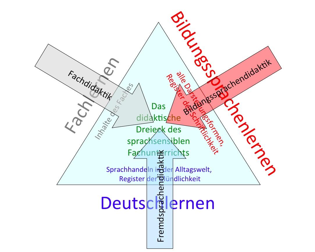Didaktisches Dreieck des sprachsensiblen Fachunterrichts
